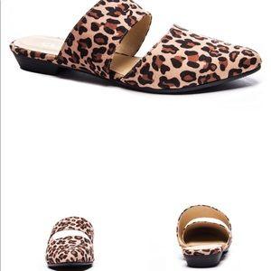 Enya Leopard Mule